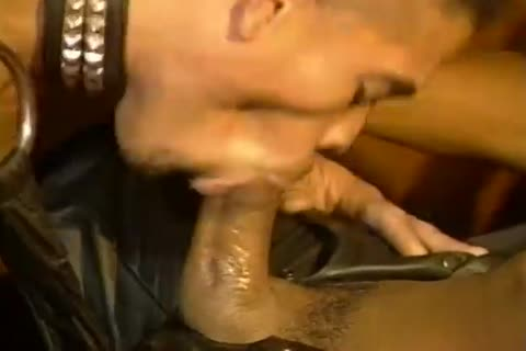 Two lusty ebony twinks pound In Chains And Leather
