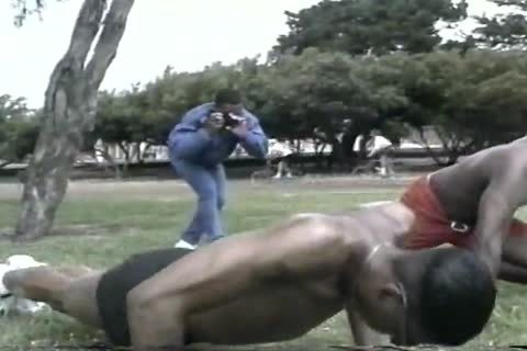 lustful darksome studs Assfucking After Workout At The Park