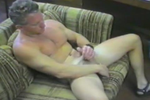daddy man Plays With His big cock