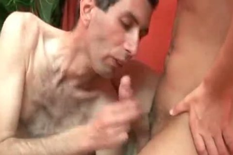 dirty brunette hair twink receives booty fucked And Facialized