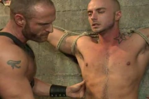tied Up homo boy receives pounded By kinky Leather Daddy