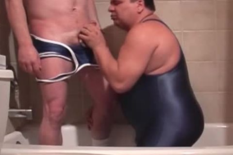 Pervy Lad Pissing In Boyfriend's Trap while he's BJing His Stiffed Tackle