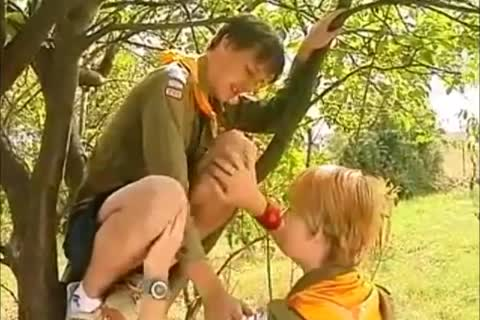 Scouts Play In The Nature