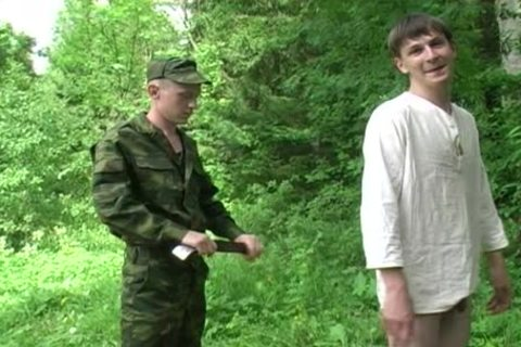Two Military men receive oral From A young lad