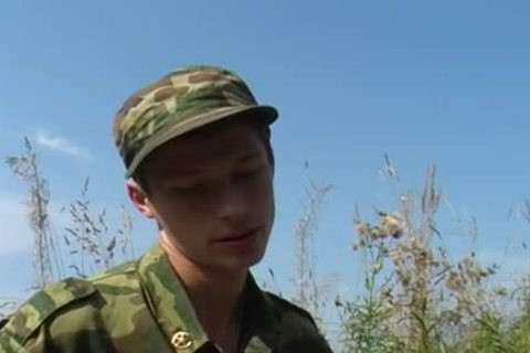 A young Military duo have a pleasure Some Sex outdoors