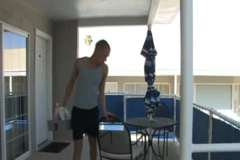 Hotel Guest pounds His Maid chap By Pool