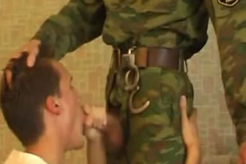 dude Sucks weenie Of young pretty Military lad