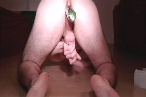 Assfuck With Cucumber & goo flow doggy style