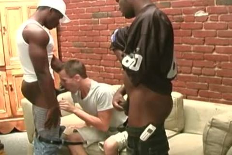 dark Thugs Sharing The anal Of A Whiteboi