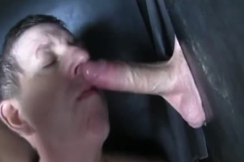 Super enormous Uncut shlong straight Aussie Max acquire's Sucked Off At The Gloryhole.