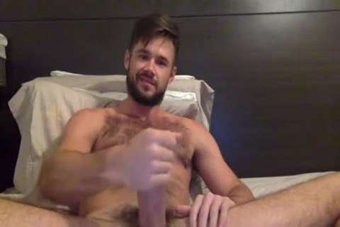 Porn Star Mike De Marko Strokes His large humongous weenie