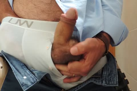 Teasing And jerking off A nice Tool With Precum In Some White Boxer underwear