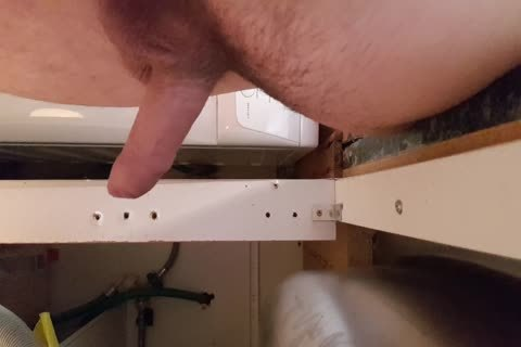 Washing The Dishes nude. Floppy Precum penis Wobble