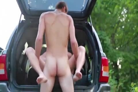 filthy hairy Blond slammed Outdoor By Hung young M
