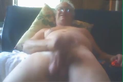 old man cum On webcam