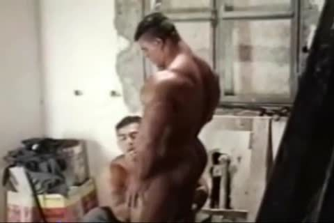 Brasil Bodybuilders large butthole drilled By Hunk