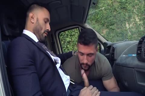 Alpha Truck Driver poked By Suit Hunk