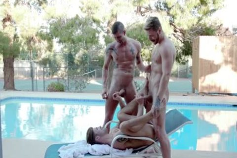 large cock homosexual threesome And ball cream flow