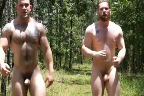 2 Swinging penises In The Woods