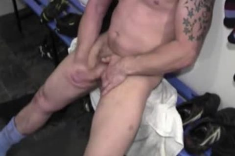 Rugby guys nail In The Lockerroom
