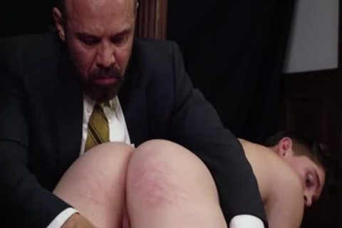 MormonBoyz - Priest Daddy Spanks shlong anal Bent Over Knee