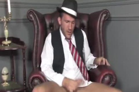 Suited man Cums On His Socks