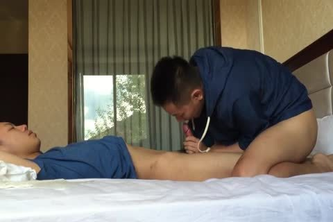 An Oriental receives A good cook jerking Then A admirable oral stimulation sex penis