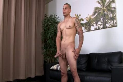 Hung pumped up Hunk Stroking His giant Uncut dick