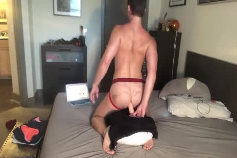 In Chastity Taking A fake penis