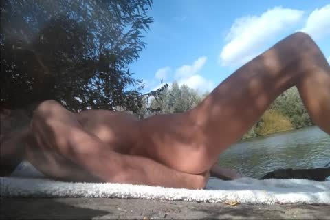 Full video With Xavier Desmadryl Masturbating outdoors.