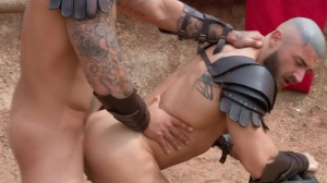 Sacred band Of Thebes - Francois Sagat and Ryan plows butthole bone