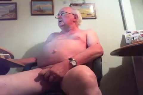 old man On web camera - two