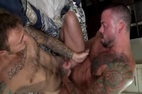big Dicked Top pounds tasty Muscle Bottom
