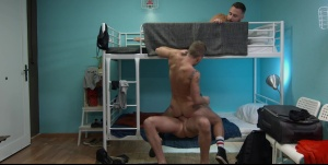 Hostel Takeover - Damon Heart and Logan Moore anal Hump