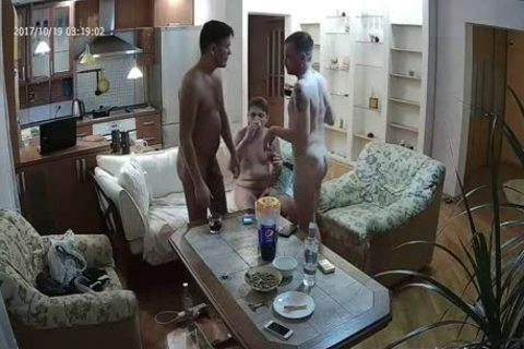 nice-looking Voyeur homosexual threesome With a lot of bj sex
