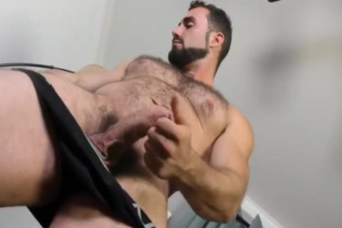 Jaxton Wheeler stroking Is hairy penis