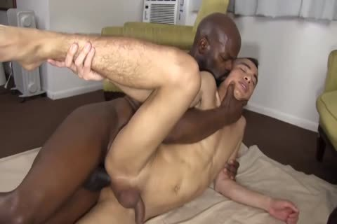 black Daddy Chokes A chap With His penis