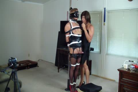 girl tied Up For A irrumation stimulation