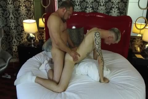 Robert Rexton gets pounded By Muscle Daddies Max Sargent & Chance Caldwell