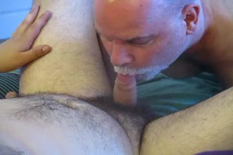 ambisexual Bear Cub's First blow job stimulation To Completion.
