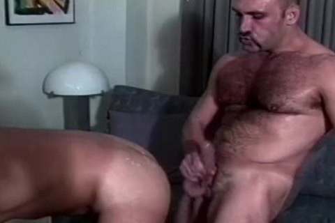 Muscly Hunk bonks A cute butthole from behind