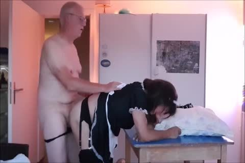 Maid Sissy Cleans house Sucks ramrod acquires pounded