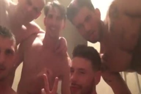 gang-sex And Shower