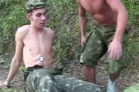 young Soldiers pounding