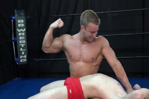 filthy Wrestling Match Bodybuilder Vs guy