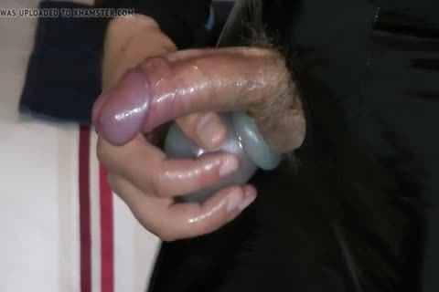 Masturbation In Varnish And Leather Pants With ramrod hole