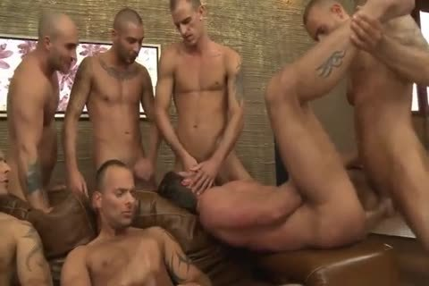 Toby Dutch receives nailed In A Seven-chap bare gang gangbang