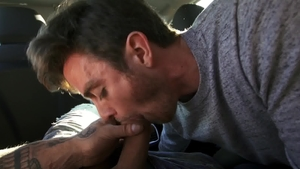 Str8Chaser - Joey pounding muscle couple Ryan Bones outdoors