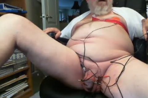 Thehungarianguy older Daddy Electro Stimulation sperm Session
