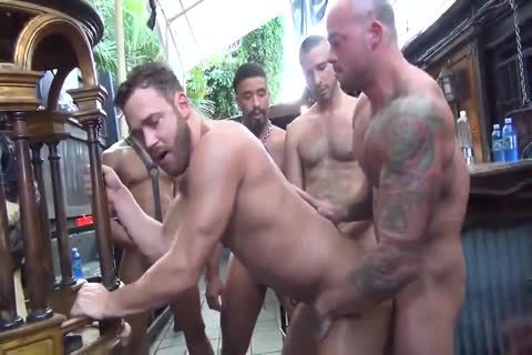 MusclePup Logan Moore acquires gang nailed Barebacked poke